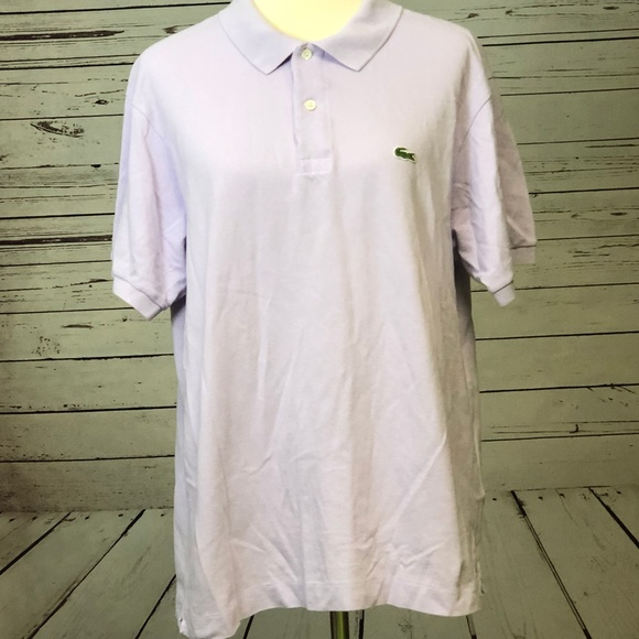 Lacoste Other - Lacoste Polo Shirt 7 Purple Short sleeve Gator 2XL